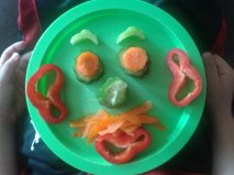 fun veggie plate